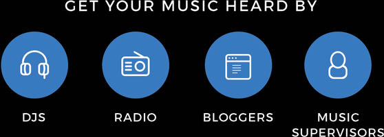 Get Your Music Heard By DJs, Radio, Bloggers, Music Supervisors